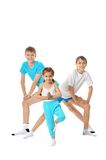Two boys and girl Stock Photography
