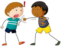 Two boys hitting and punching Royalty Free Stock Image