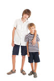 Two boys, two brothers. Two boys hugging each other Royalty Free Stock Photo