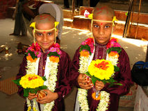 Two boys at Indian ceremony Stock Photography