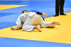 Boys compete in Judo Royalty Free Stock Photos