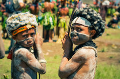 Two boys in Papua New Guinea Stock Image
