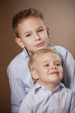 Two Boys Portrait in studio Stock Images