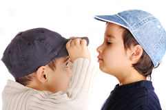 Two boys , relationship Stock Image