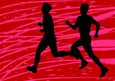Two boys running Royalty Free Stock Photography