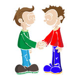 Two boys shaking hands Royalty Free Stock Images