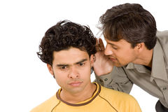 Two boys sharing secrets Royalty Free Stock Image