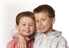 Two boys smiling Stock Image