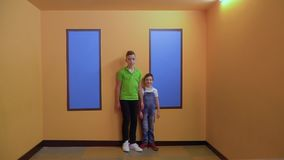 Two boys in Ames room