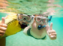 Two boys underwater Stock Photography