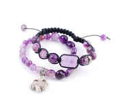 Two bracelets with amethyst Royalty Free Stock Image