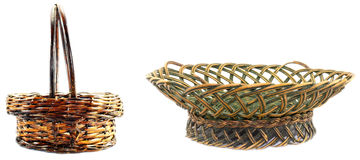 Two braided baskets Royalty Free Stock Photos