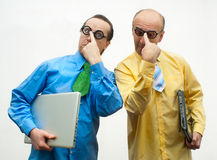 Brainy businessmen Royalty Free Stock Photography