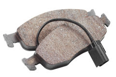 Two brake pads isolated on white. Background Stock Photo