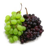 Two branches of grape. White and blue royalty free stock photos