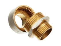 Two brass fittings Royalty Free Stock Image
