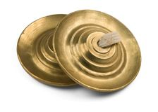 Two brazen cymbals Stock Image