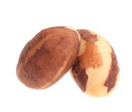 Two brazil nuts. Stock Image