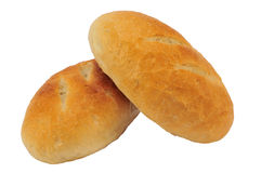 Two bread rolls Royalty Free Stock Images