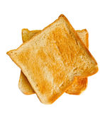 Two bread slice toasts Royalty Free Stock Photography