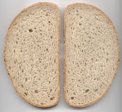 Two bread slices texture Royalty Free Stock Photo