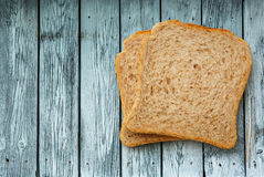 Two bread slices Royalty Free Stock Image