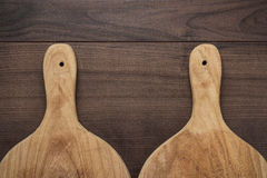 Two breadboards on table Royalty Free Stock Photo