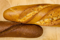 Two Breads Royalty Free Stock Photos