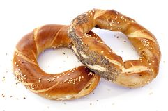 Two breads in form of ring Royalty Free Stock Photos