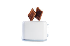 Two breads jump from toaster Stock Photography