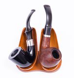 Holmes and Watson pipes Stock Image