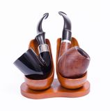 Holmes and Watson pipes Stock Photography