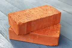 Two bricks Stock Photos