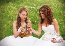 Two brides Stock Photo