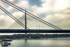 Two bridge in Belgrade Royalty Free Stock Images