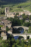 Two bridges and an abbey Royalty Free Stock Image