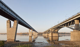 Two bridges Stock Images