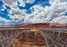 Two Bridges in Colorado. Two bridges meeting a canyon in Colorado Stock Photography