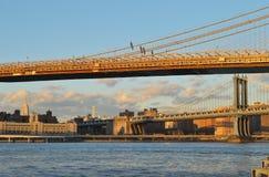 Two bridges. Stock Photo