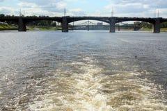 Two bridges over Volga Stock Photography