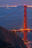 Two Bridges Photo | Golden Gate and Bay Royalty Free Stock Photo