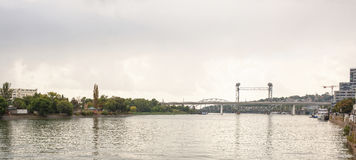 Two bridges on the river Don in Rostov-on-Don Royalty Free Stock Image