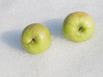 Two bright apple Royalty Free Stock Photos