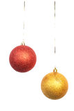 Two bright Christmas balls Stock Image
