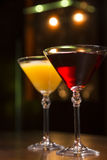 Two bright cocktails stock photography