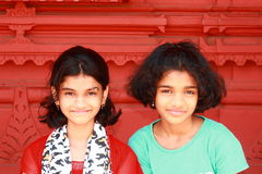 Two bright Asian girls Royalty Free Stock Images