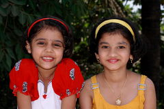 Two Bright Girls Stock Image
