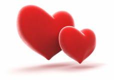 Two bright heart Stock Photo