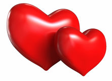 Two bright heart Stock Images