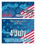 Two bright posters on the day of independence of America. stock vector illustration
